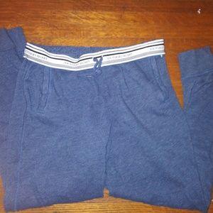 Victoria Secrets xs navy blue and grey sweat suit